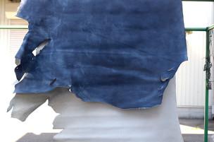 半裁 牛本革 本牛革 革材料 革 皮 皮革 日本製 デニム ブルー
