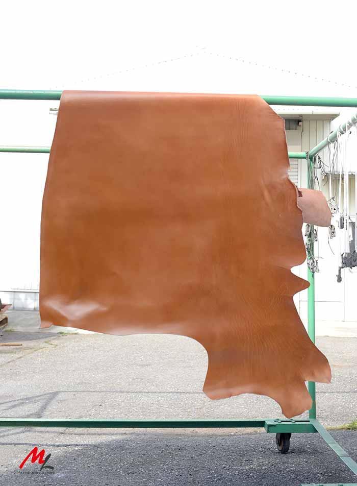 半裁 牛本革 本牛革 革材料 革 皮 皮革 日本製 こげ茶1
